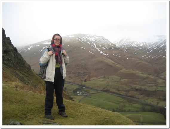 Sunday: Walking up Helm Crag near Grasmere; the weather a little more pleasant.